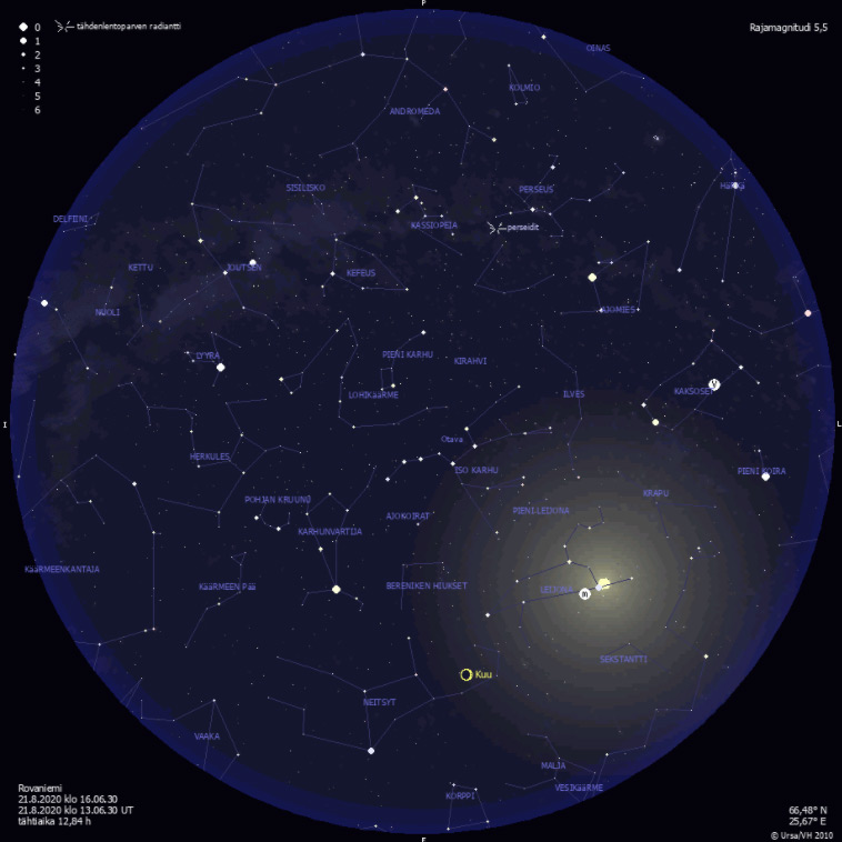 Ursa (astronomical society) star chart